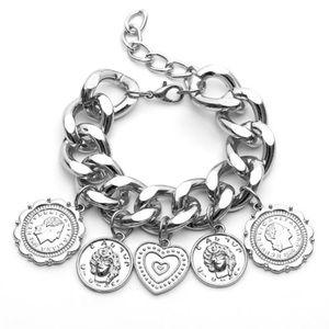 Silver Charms Adjustable Bracelet New